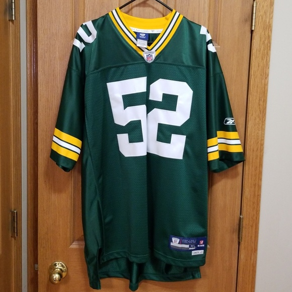 premium selection a090a 5d9cd Authentic Reebok Packers Clay Matthews Jersey